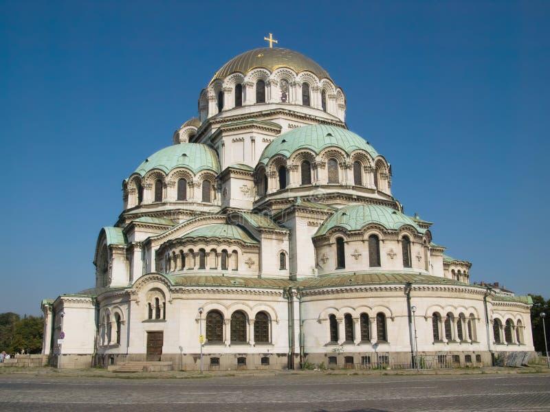 El St. Alexander Nevsky Cathedral en Sofía foto de archivo libre de regalías
