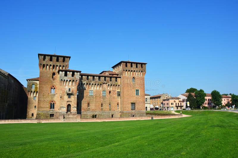 El St medieval George Castle en Mantua Mantova, Italia fotografía de archivo libre de regalías