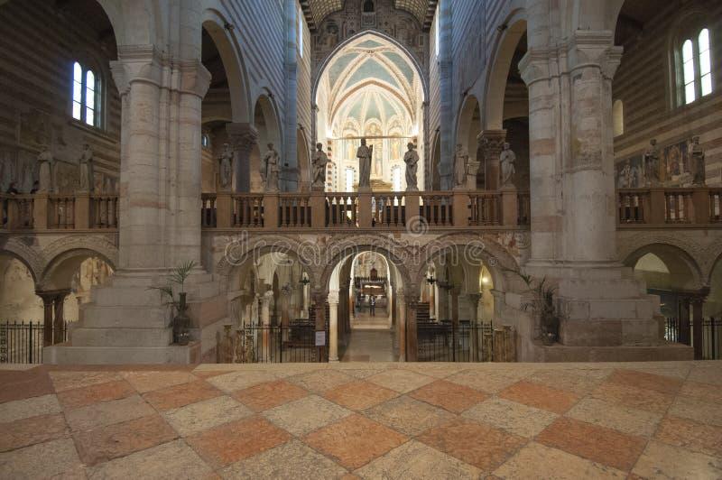 El st Zeno Verona Véneto Italia Europa de la basílica fotos de archivo