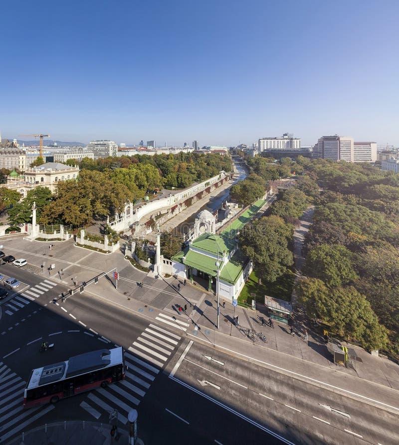 El stadtpark en Viena imagen de archivo libre de regalías