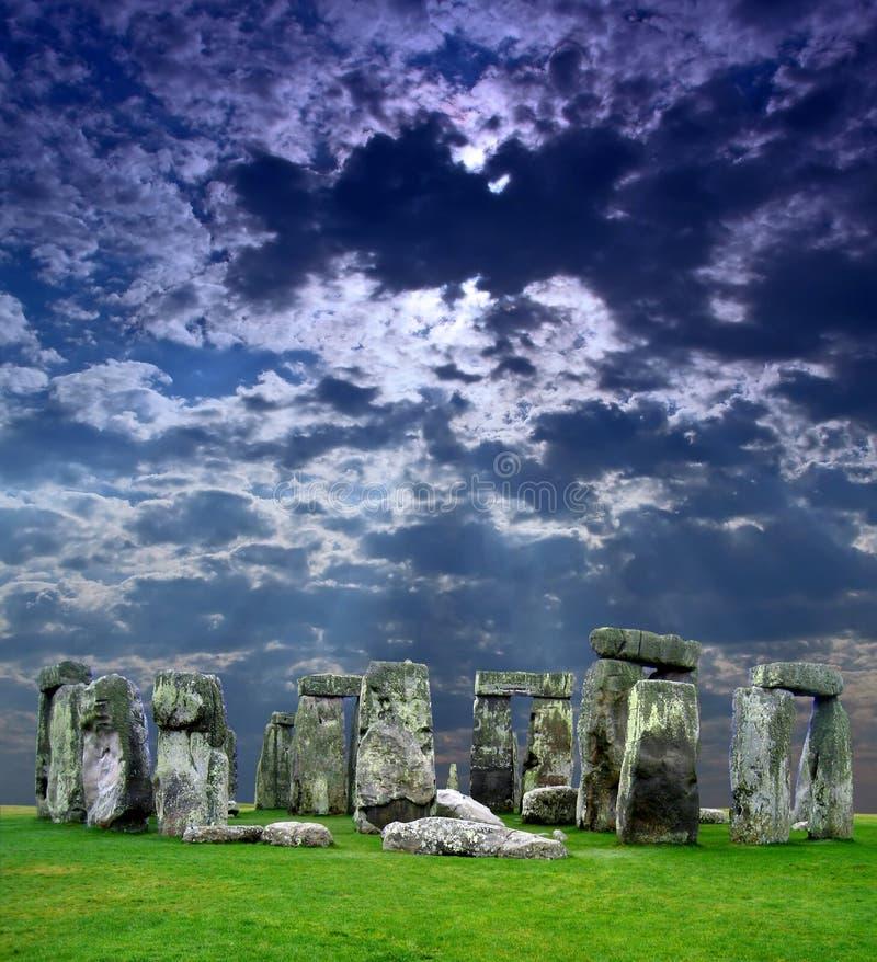 El Stonehenge en Reino Unido imagenes de archivo