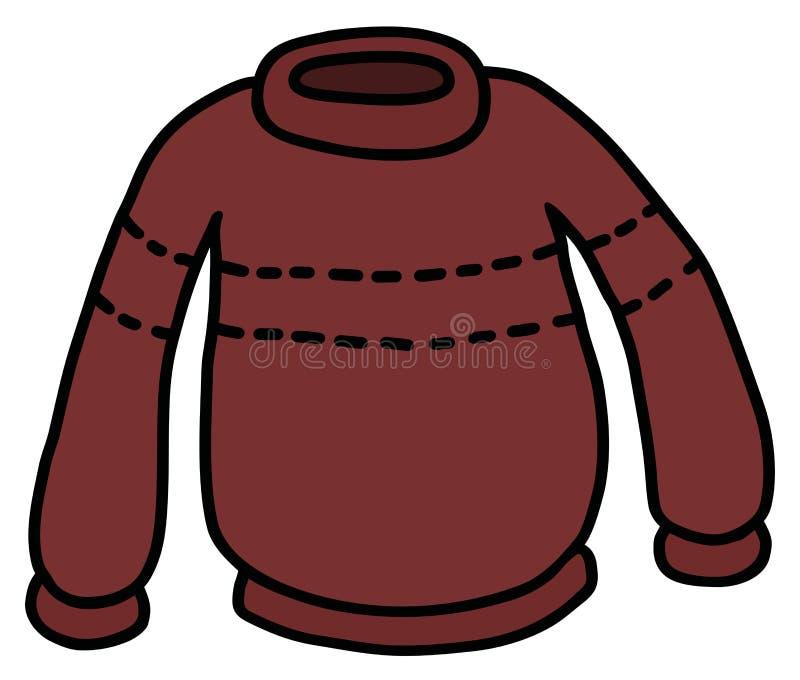 El suéter de lana rojo oscuro divertido libre illustration