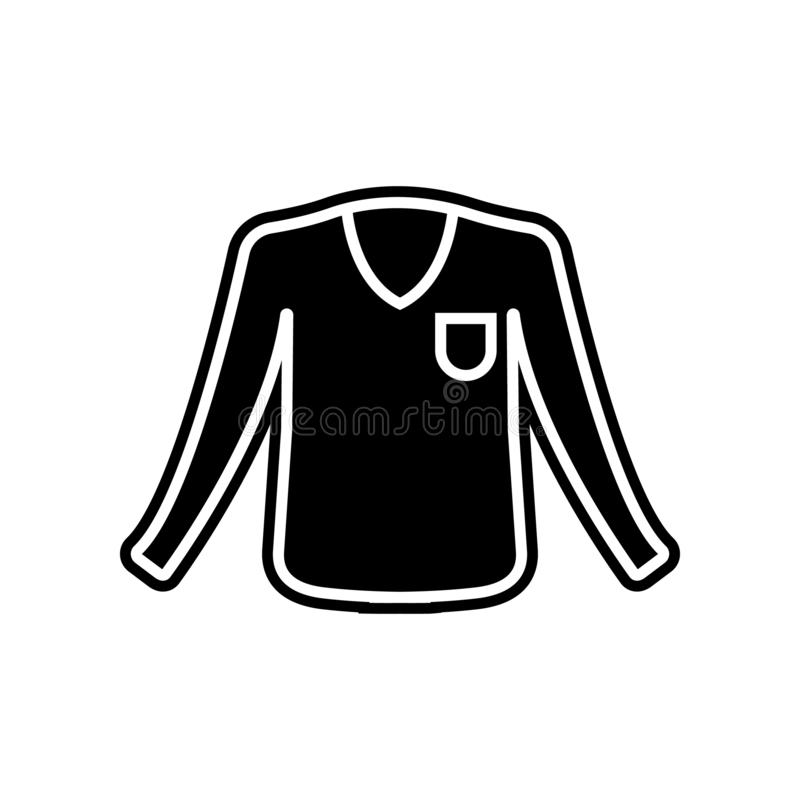 El suéter viste el icono del hombre Elemento de la ropa para el concepto y el icono móviles de los apps de la web Glyph, icono pl stock de ilustración