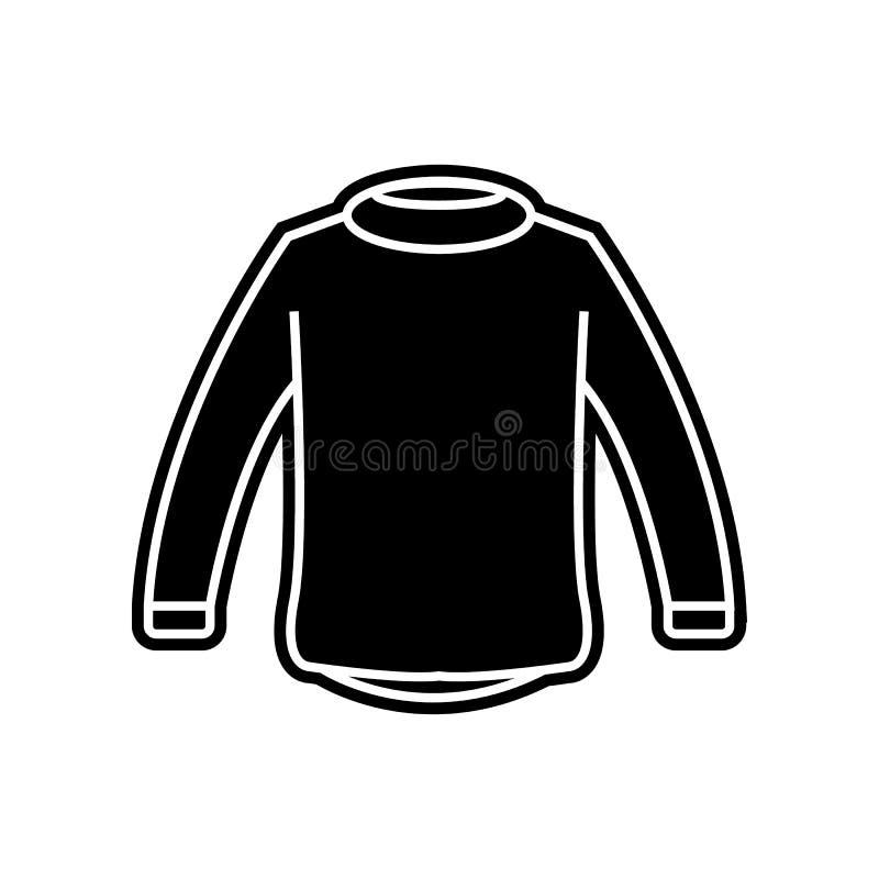 El suéter viste el icono del hombre Elemento de la ropa para el concepto y el icono móviles de los apps de la web Glyph, icono pl libre illustration