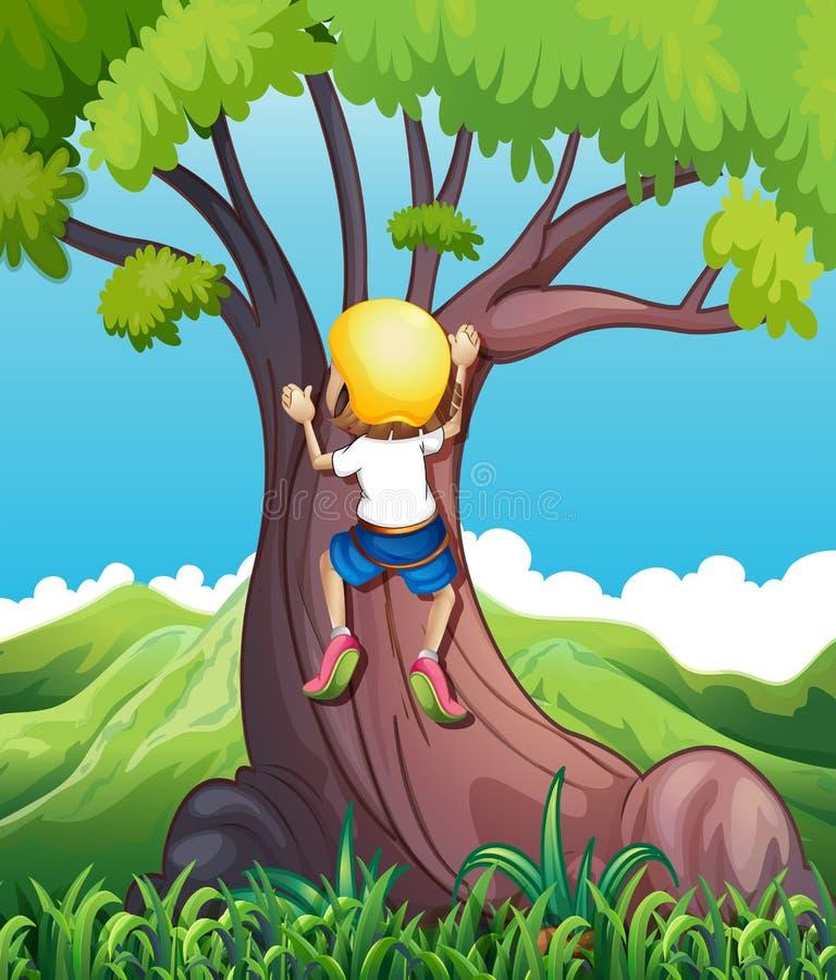 El subir de la chica joven libre illustration