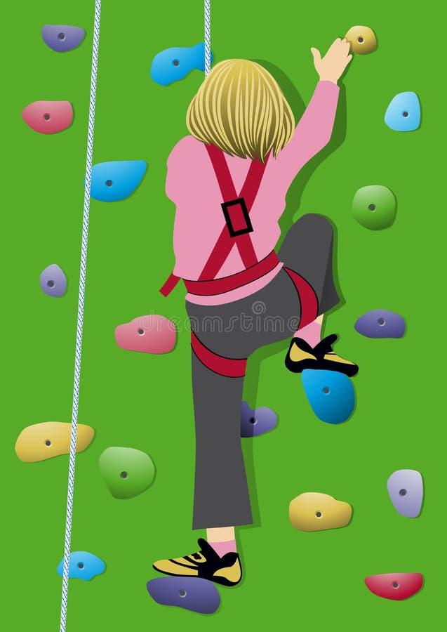 El subir de la muchacha stock de ilustración