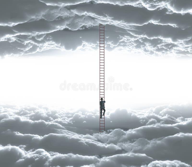 El subir del hombre imagen de archivo