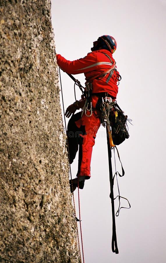 El subir en la pared grande Valea Alba foto de archivo libre de regalías