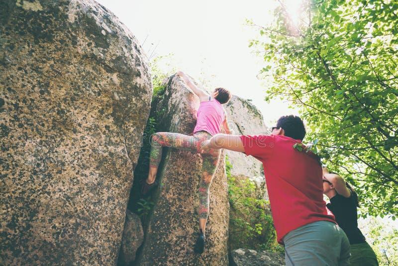 El subir en naturaleza imagen de archivo libre de regalías