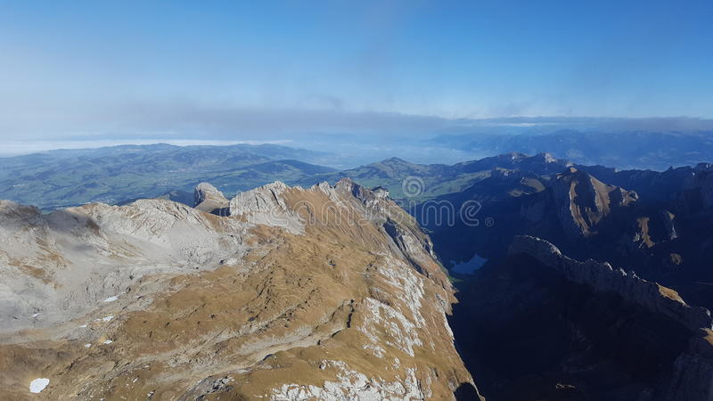El suizo, Säntis& x22; montañas foto de archivo