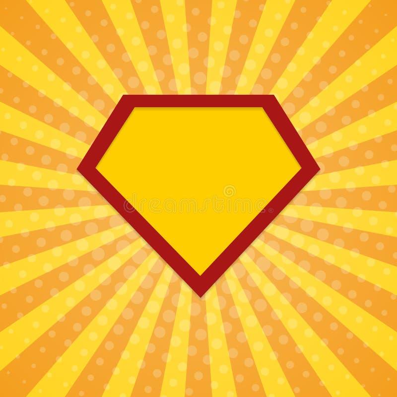 El superhéroe irradia el fondo de semitono ilustración del vector