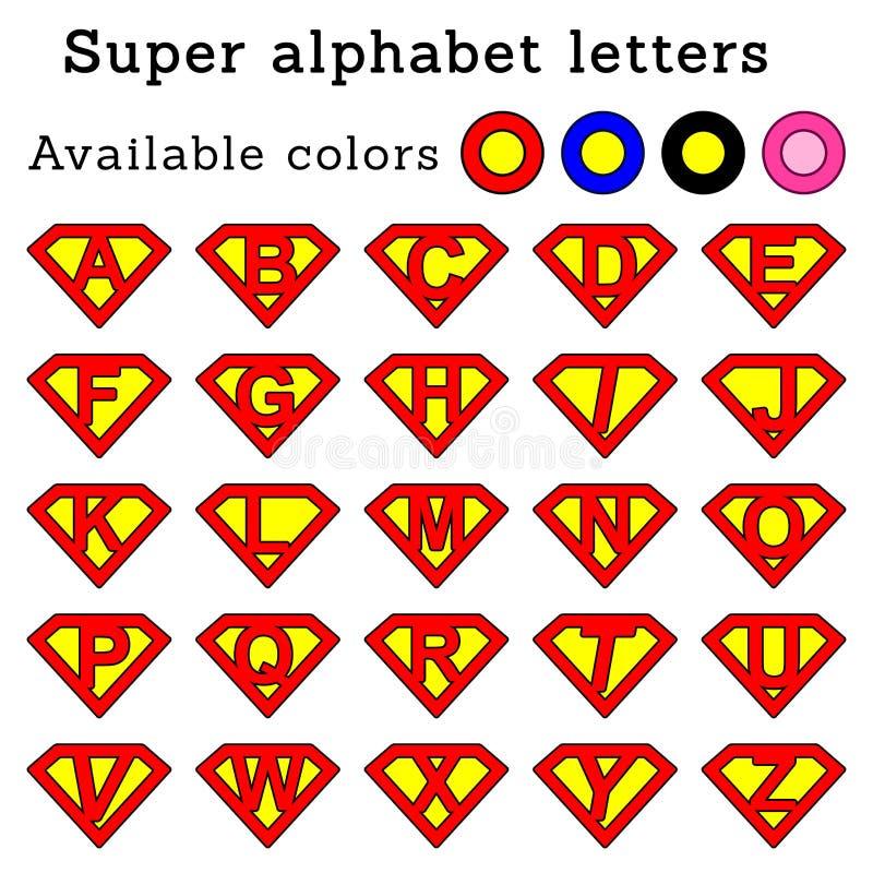 El superhombre pone letras redondeado y x28; pink& x29; ilustración del vector
