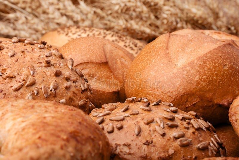 El surtido de panes y los oídos agrupan vida inmóvil imágenes de archivo libres de regalías