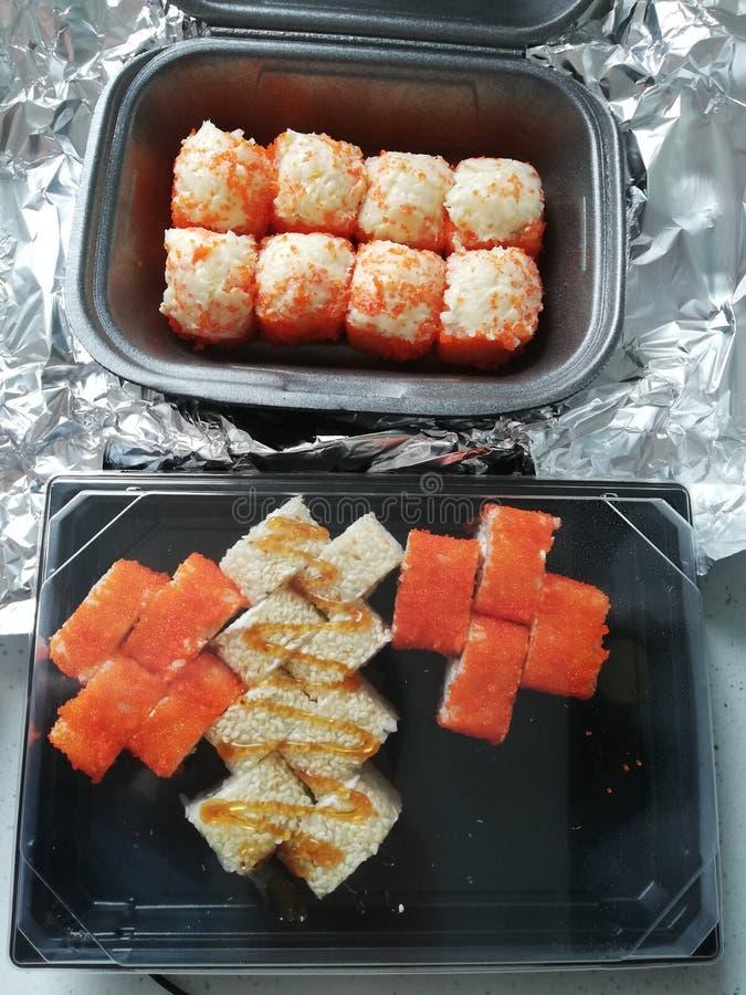 El sushi fijó la comida japaneese fotos de archivo libres de regalías
