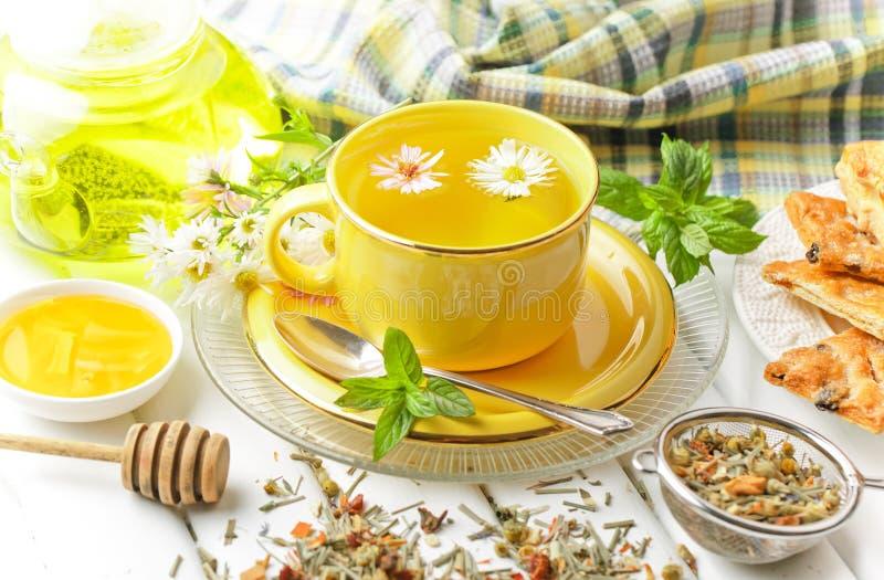 El té es una bebida caliente foto de archivo