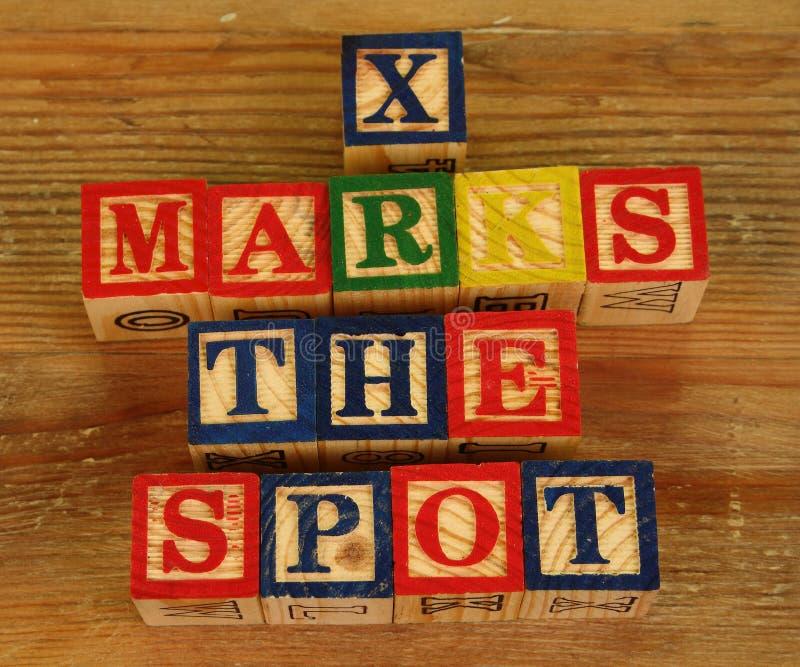 El término X marca el punto fotografía de archivo libre de regalías
