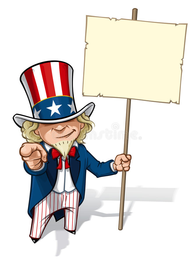El tío Sam I quisiera que usted llenara de carteles stock de ilustración