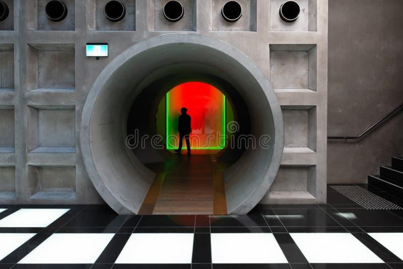 El túnel de la luz en MONA, Hobart, Tasmania foto de archivo