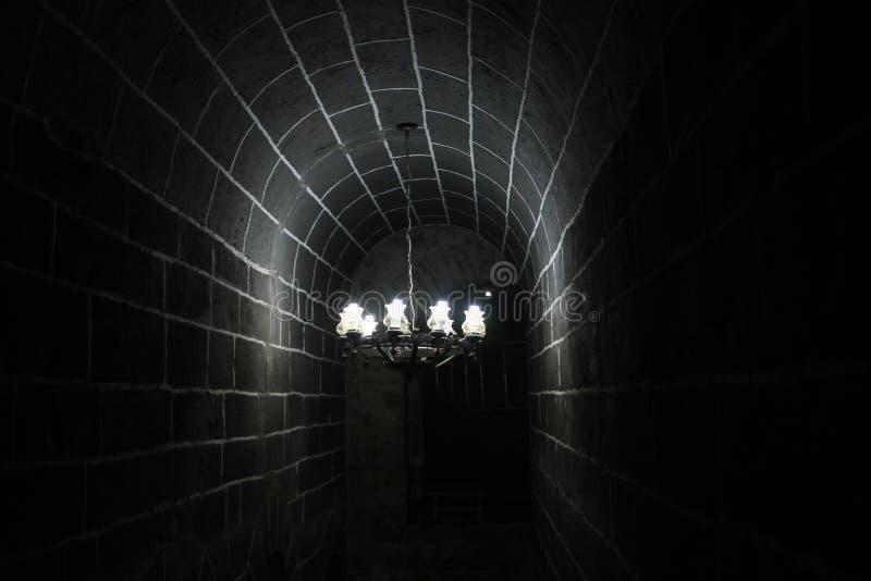El túnel oscuro fotos de archivo libres de regalías