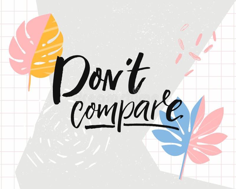 El ` t de Don compara Cita inspirada en fondo tropical de moda con la hoja del monstera libre illustration
