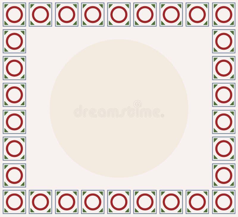 El tablero de la presentación para uno del logotipo sabido de la muestra de Solomon con Edades Medias colorea el esquema libre illustration