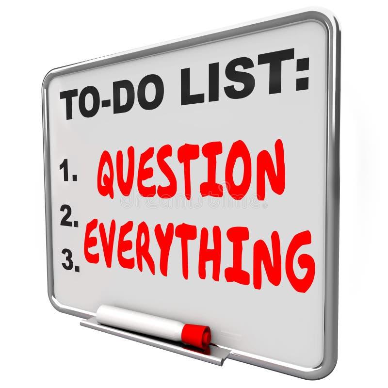 El tablero de mensajes de Everyting de la pregunta no confía en autoridad de las reglas ilustración del vector