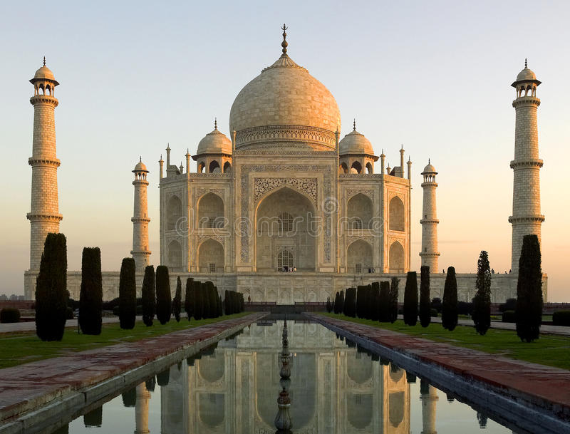 El Taj Mahal imagen de archivo