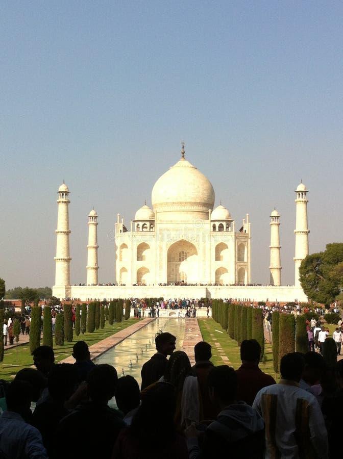 El Taj Mahal en 1632 por el gran Sah del empore jahan imagen de archivo libre de regalías