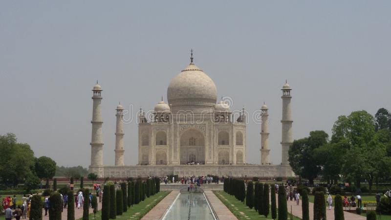 El Taj Mahal Maravilla del mundo imagenes de archivo