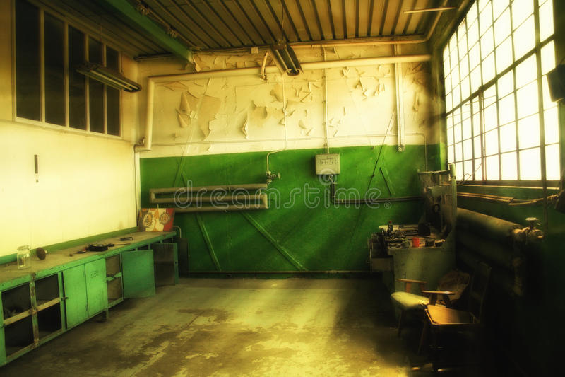 El taller de Walensa en el astillero de Gdansk fotos de archivo libres de regalías