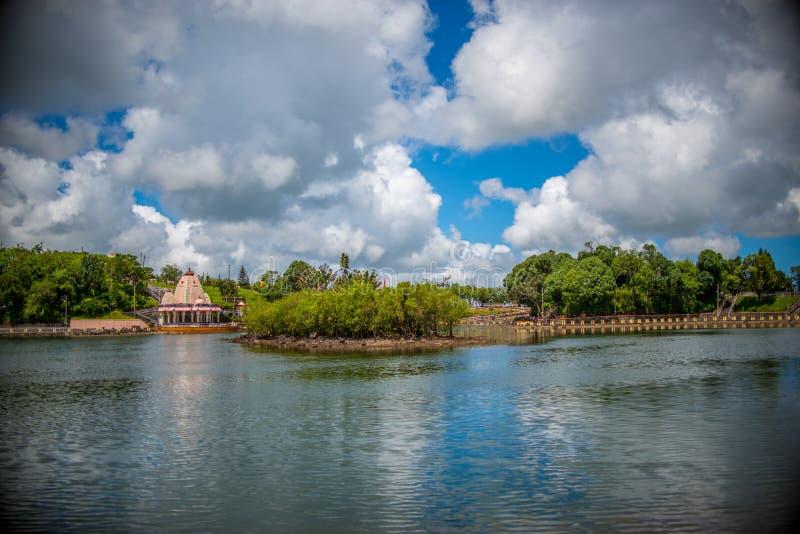 El taloa de Ganga es un lugar tradicional y ritual en Mauricio imagenes de archivo