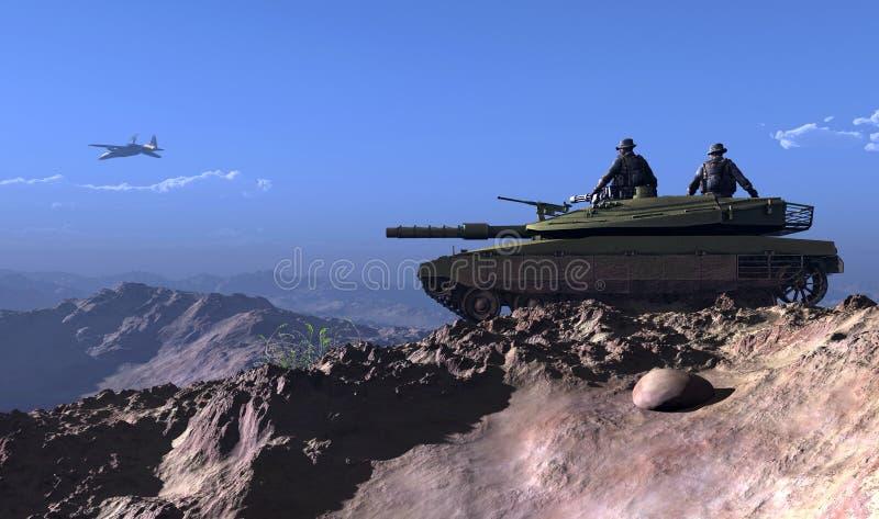 El tanque. stock de ilustración