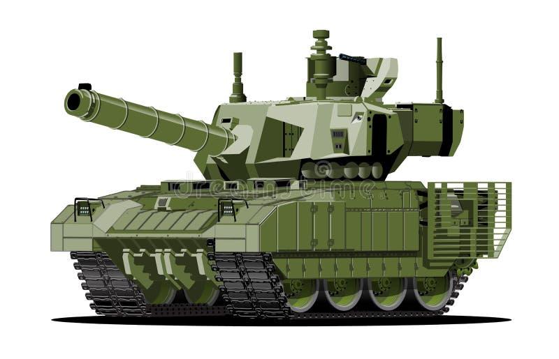 El tanque acorazado moderno de la historieta libre illustration