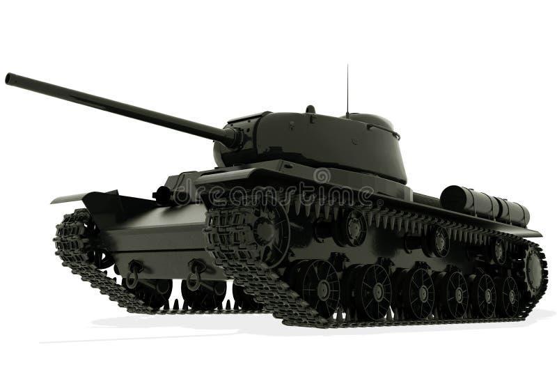 El tanque aislado en el fondo blanco representaci?n 3d ilustración del vector