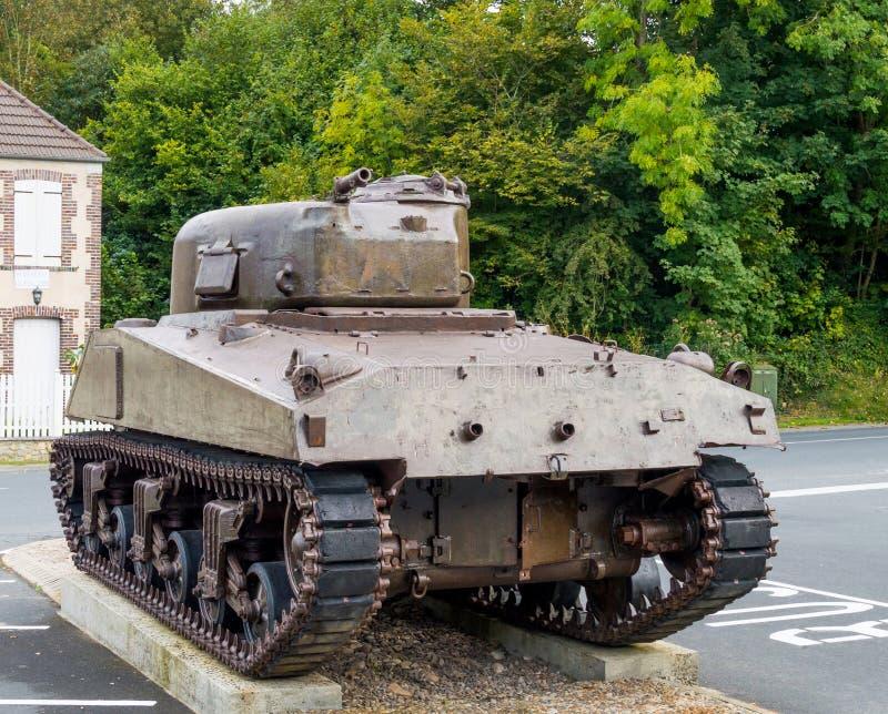El tanque americano de la Segunda Guerra Mundial foto de archivo libre de regalías