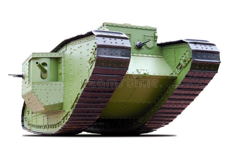 El tanque británico de la marca V fotografía de archivo libre de regalías