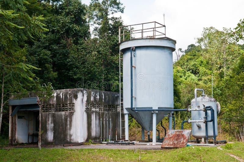 El tanque de almacenamiento del agua imagen de archivo