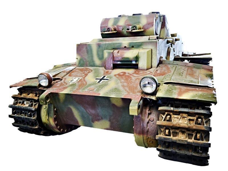 El tanque de asalto alemán de la infantería Panzer I PzKpfw I Ausf F aislado imagen de archivo