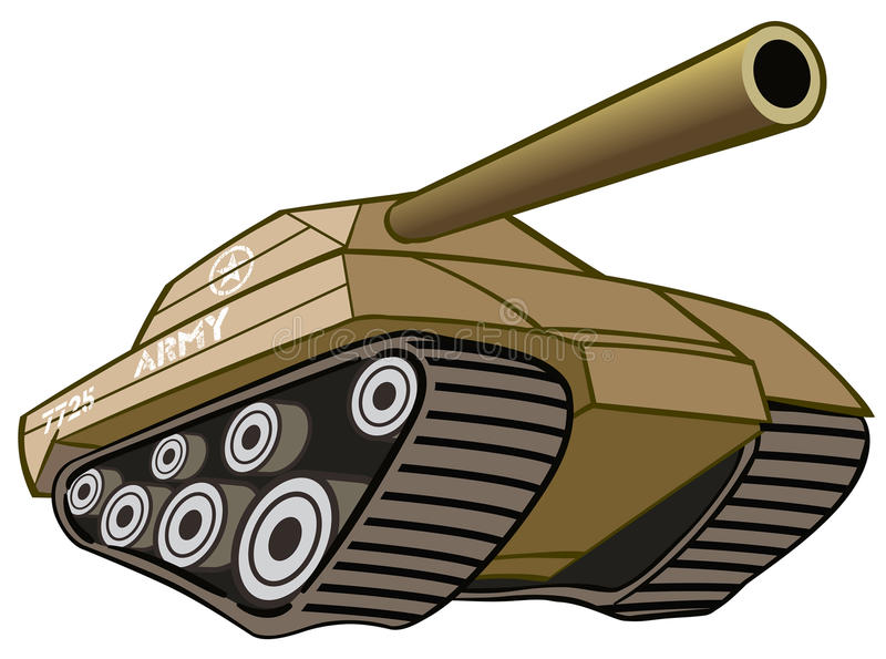 El tanque de batalla stock de ilustración