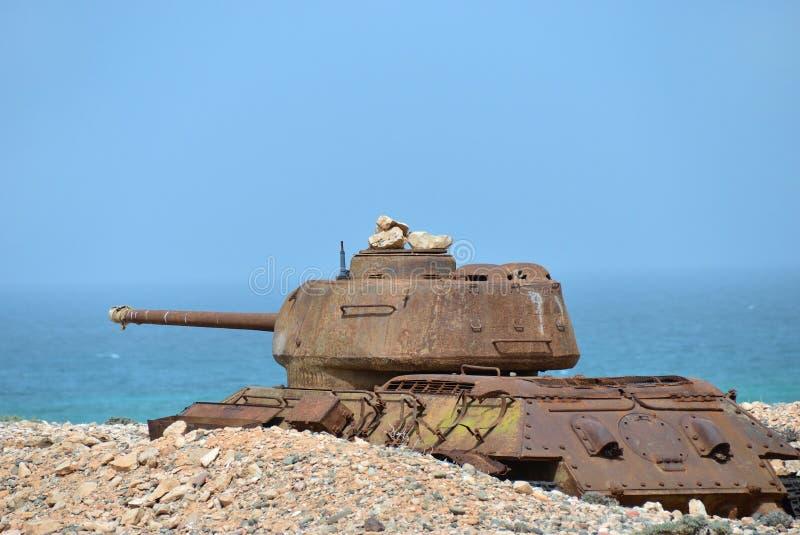 El tanque de batalla soviético fotografía de archivo
