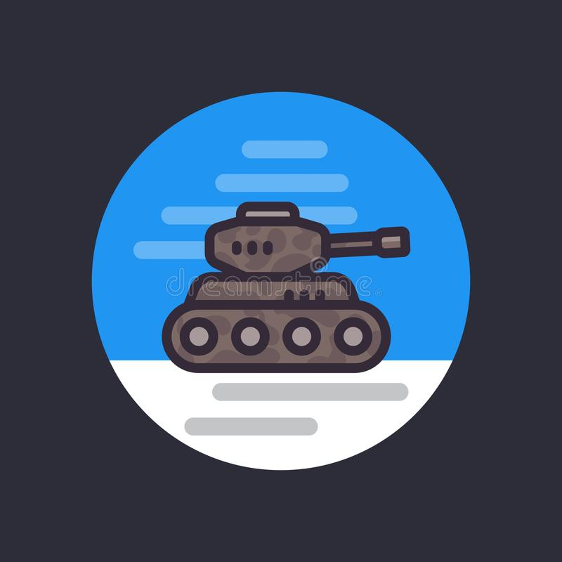 El tanque de batalla, vector el icono plano del estilo libre illustration