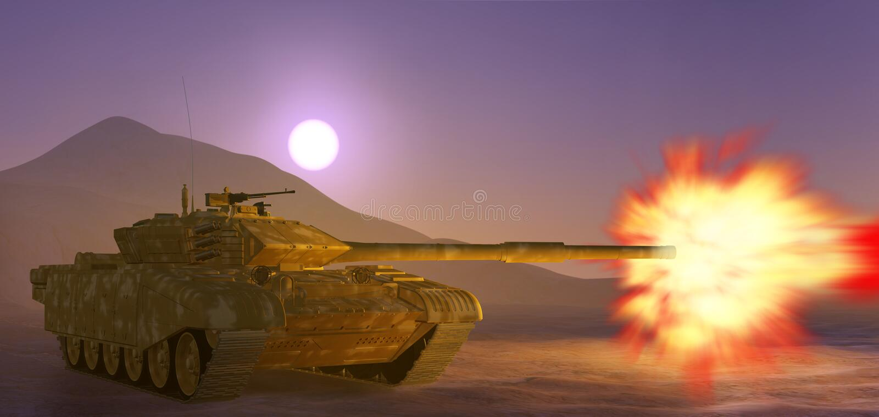 El tanque de ejército. stock de ilustración
