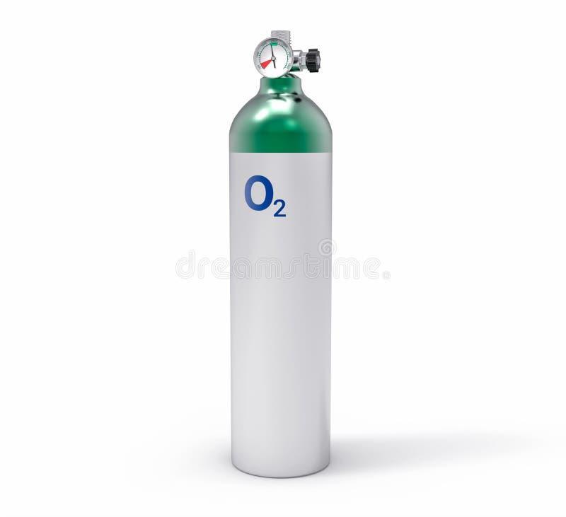 el tanque de oxígeno aislado 3D stock de ilustración