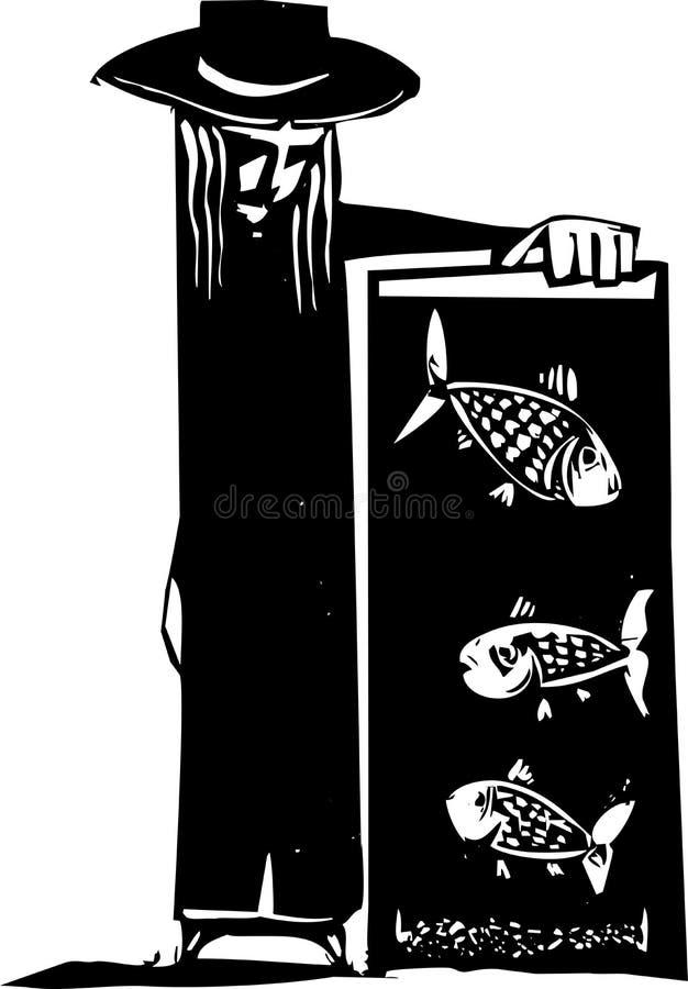 El tanque de pescados