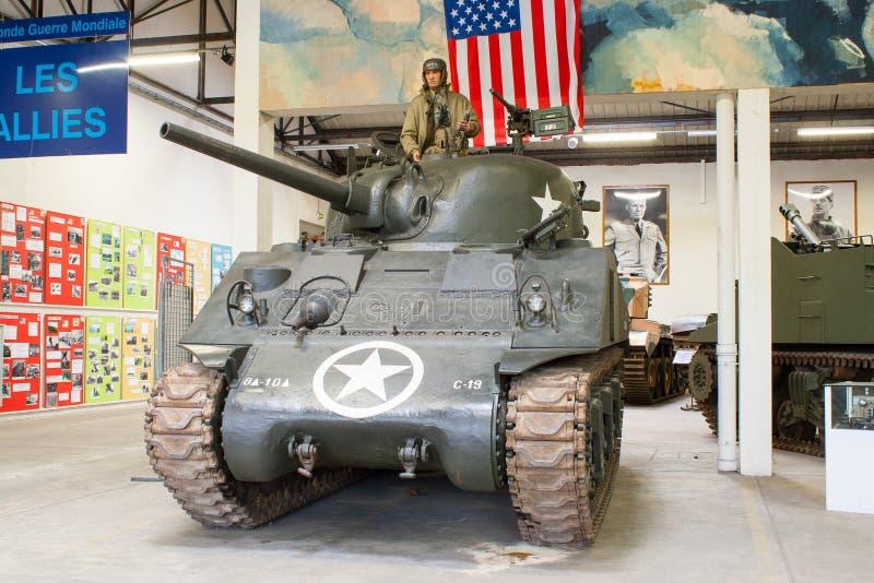 El tanque de Sherman del americano de la Segunda Guerra Mundial fotos de archivo libres de regalías