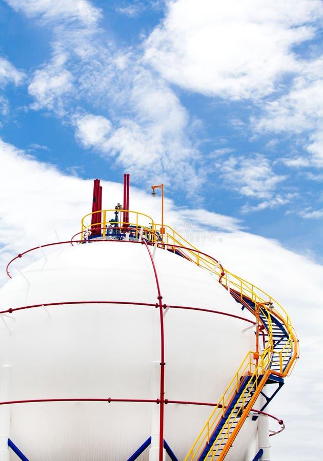 El tanque del Propano-butano del gas imagen de archivo libre de regalías