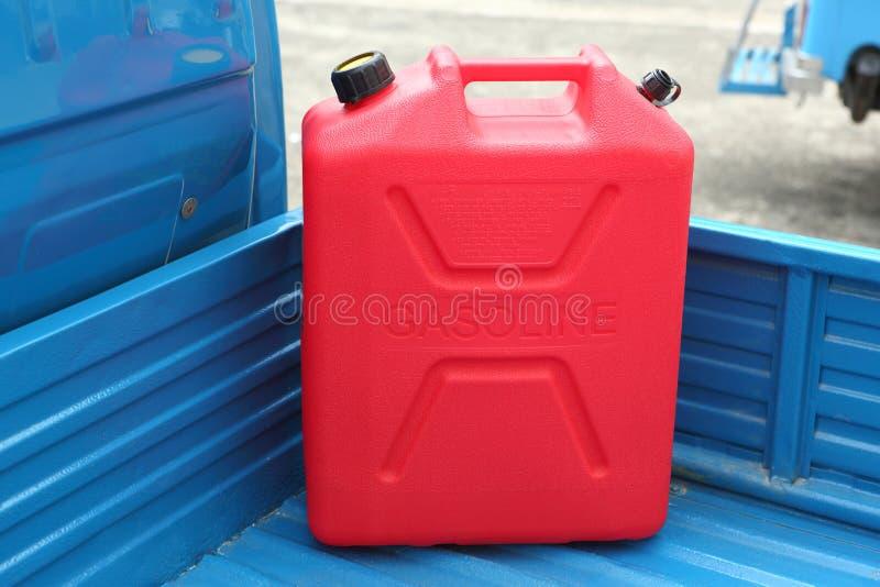 El tanque del repuesto de la gasolina foto de archivo libre de regalías