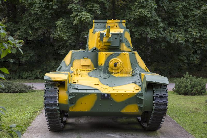 El tanque es el tipo ligero 95 HA-GO, Japón Equipo militar durante la Segunda Guerra Mundial fotos de archivo