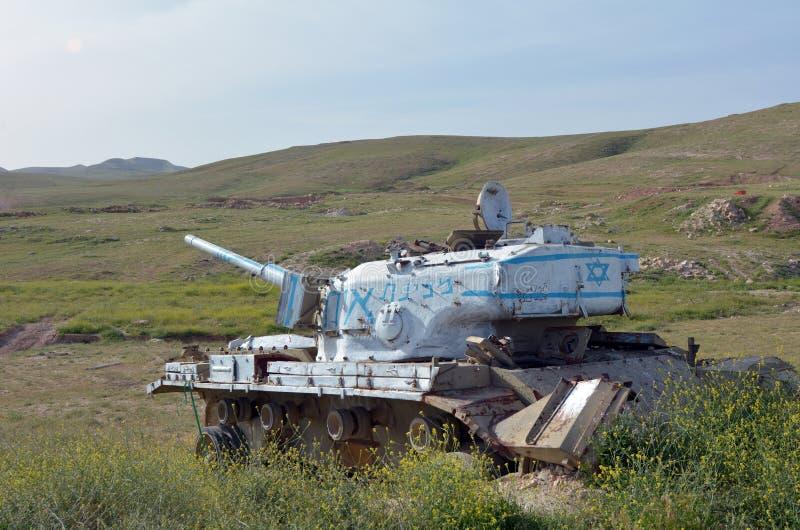 El tanque israelí viejo fotos de archivo