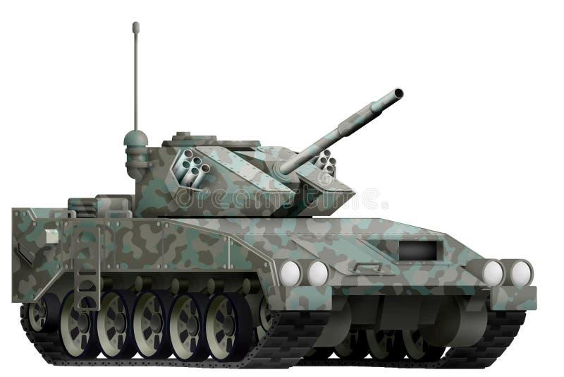 El tanque ligero apc con camuflaje ártico con el diseño ficticio - objeto aislado en el fondo blanco ilustración 3D libre illustration